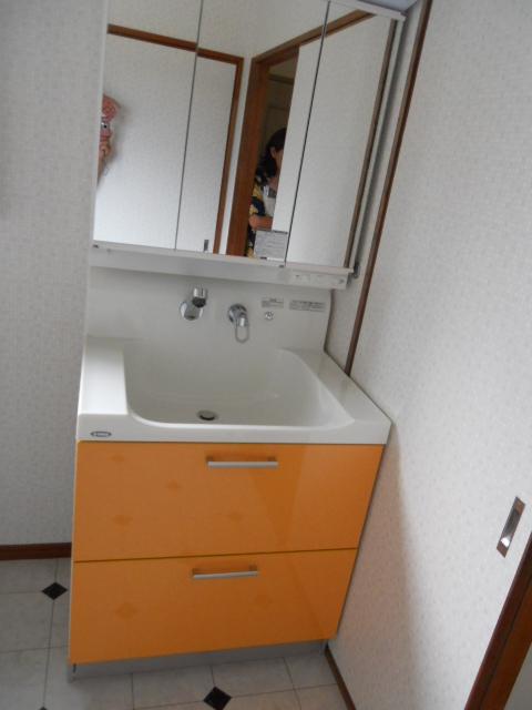 洗面脱衣室 完成