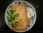 かけうどん+きつねあげ@丸亀製麺あべのキューズモール店