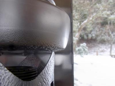 苔清水のお湯を沸かし