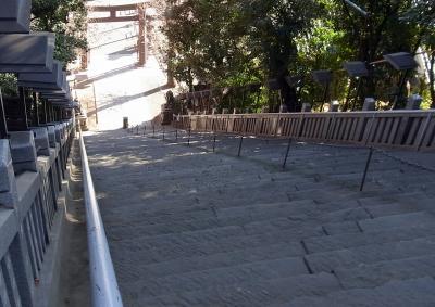 愛宕山の階段