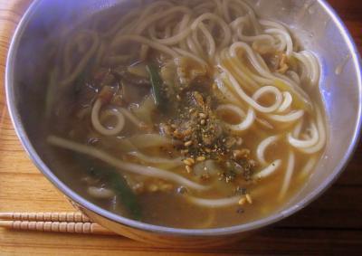 120220朝のカレー麺