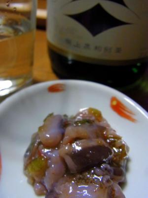 美味しいお酒と蛸山葵