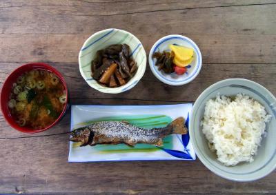岩魚定食:嘉門次小屋