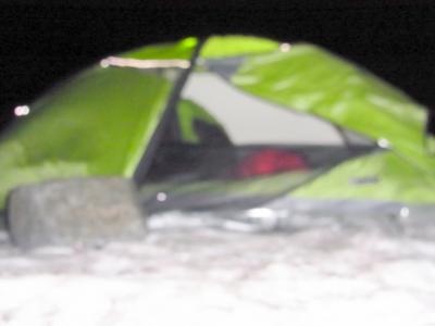 風でテントがババババいいます