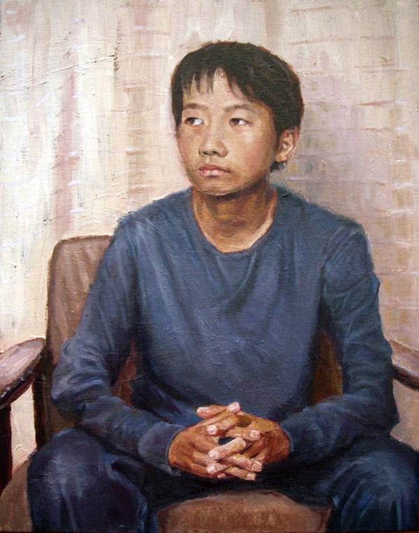 長男の肖像(油彩、F6)