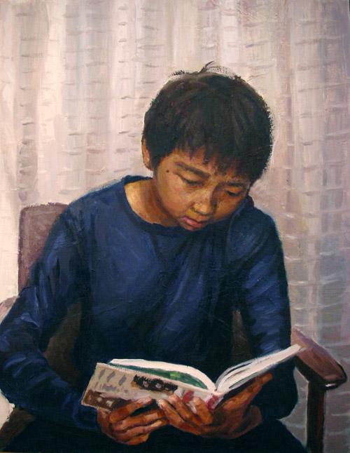 長男の肖像-2(油彩、F6)