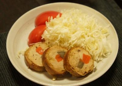 鶏ミンチの肉巻き