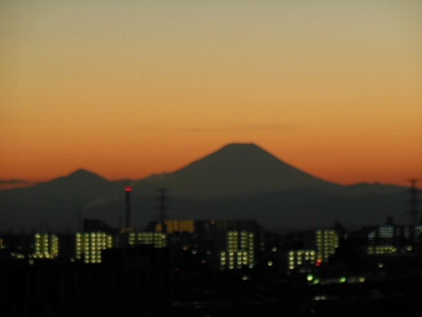 久々の富士夕焼け
