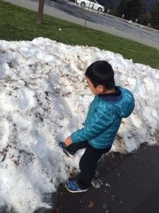 グレートスモーキー州境雪!