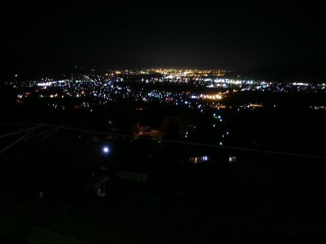 姨捨駅からの夜景