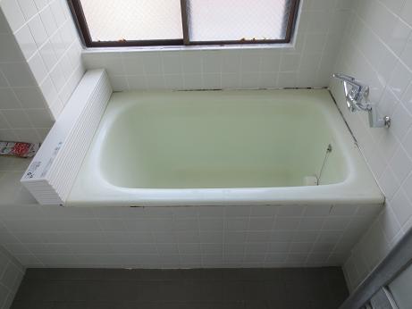 小物風呂のふた折りたたみ