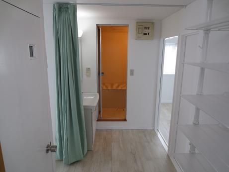小物浴室洗面所カーテン取付