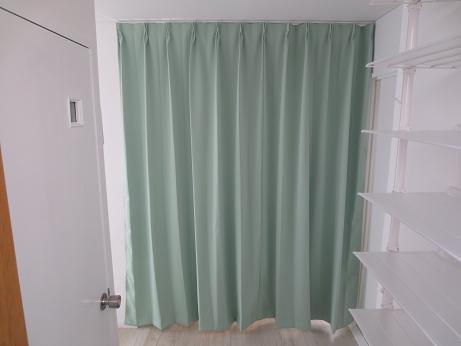 小物浴室洗面所カーテン閉める