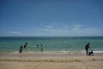 明石のビーチ