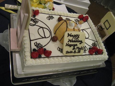 バスケットウェディングケーキ
