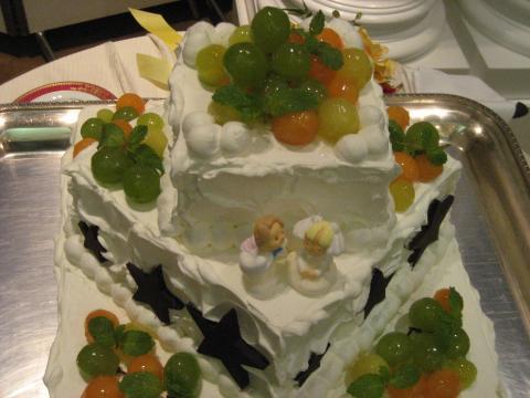 七夕ウェディングケーキ
