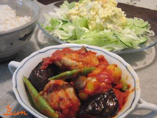Jly13_鶏と野菜のトマト煮