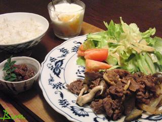 Aug19_牛肉と野菜炒め