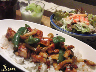 Oct01_鶏と野菜の味噌炒め丼