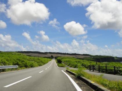 宮古島南部の道