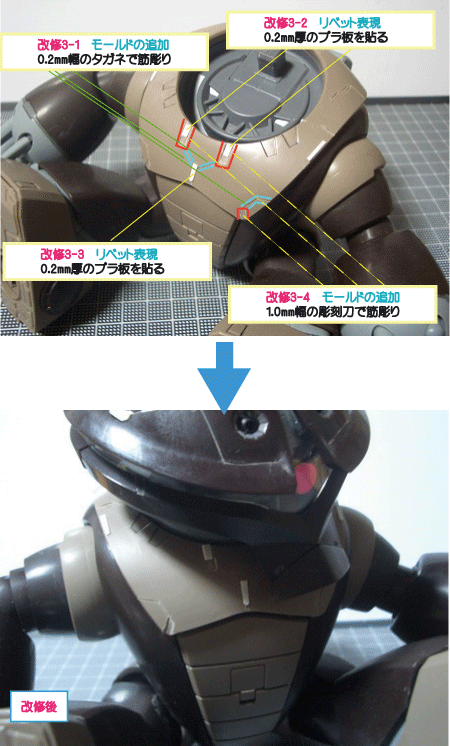 MG_アッガイの改修