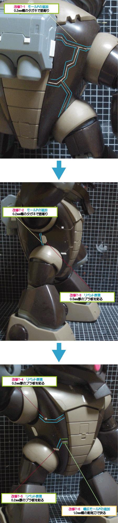 MGアッガイ(筋彫り)