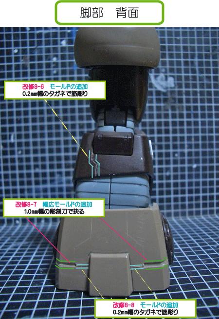 MGアッガイ(脚部スジ彫り)