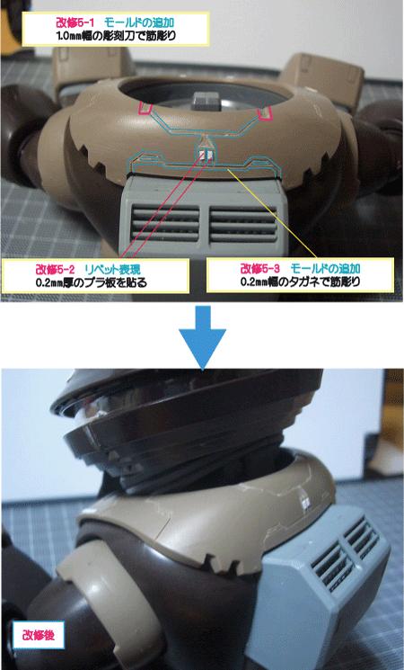 MGアッガイの改修