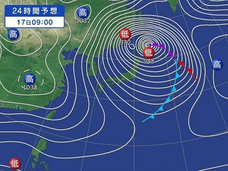 18日の天気図