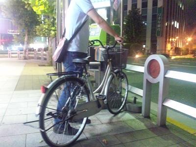 フェルナンディオさんと自転車