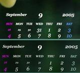 9月のカレンダー 新旧
