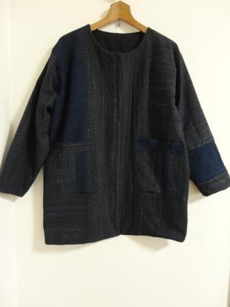 縞木綿リバーシブルジャケット表