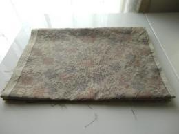 花柄織大島紬