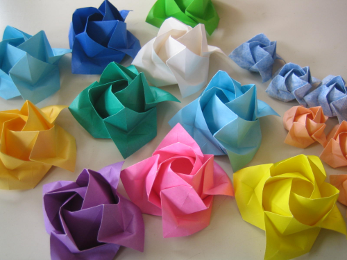 すべての折り紙 折り紙福山ローズ折り方 : 福山ローズ」です。福山ローズ ...