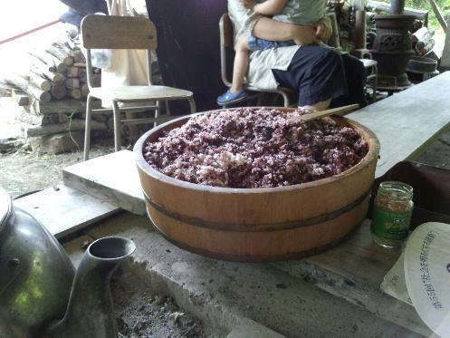 古代米おひつ