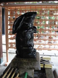 うさぎ(岡崎神社)