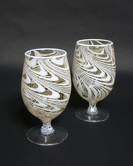 流水紋-ワイングラス