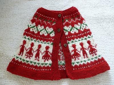 手編みのケープ