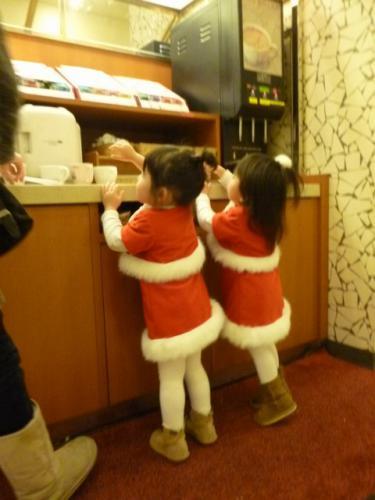 サンタ コス 2人仲良し おそろい 手作り クリスマス