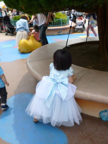後ろ姿 シンデレラ コスプレ Cinderella costume 手作り handmade