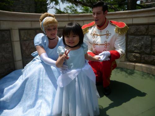 シンデレラとプリンスチャーミング ディズニーランド コスプレ Cinderella