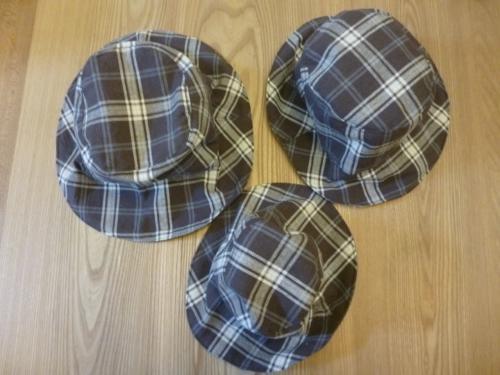 手作り 子供 帽子 チェック
