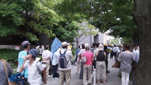 関西電力本店前・2012/8/17(2)