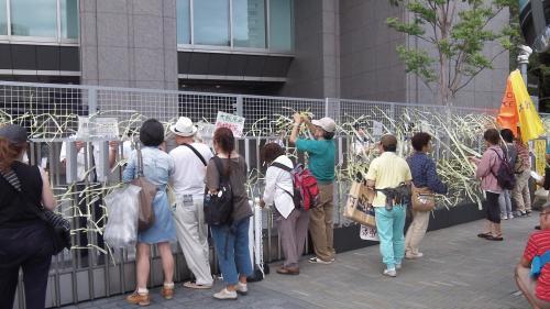 関西電力本店前・2012/8/17(3)