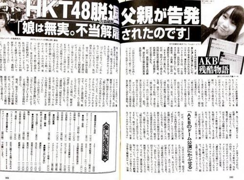 元HKT48古森結衣・『週刊文春』