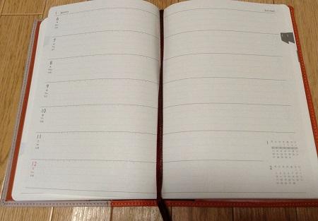 プラチナダイアリー・プレステージの手帳