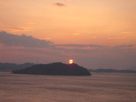 来島海峡大橋から眺める