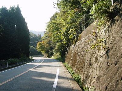 堀越峠の登り