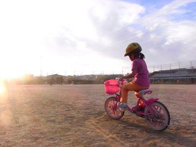 自転車に乗れたムスメ