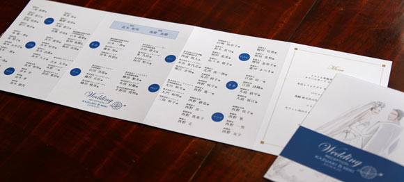 席次表を兼ねたプロフィールパンフレット